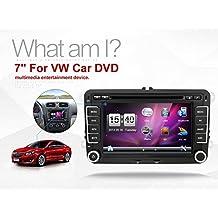Nueva 7pulgadas 2din coche DVD GPS estéreo de coche reproductor de DVD GPS navegación Window CE 6.0para VW Golf 4Golf 56Polo passatcc Jetta Tiguan Touran Eos Sharan Scirocco T5, Caddy, HD gratis cámara y tarjeta de mapa