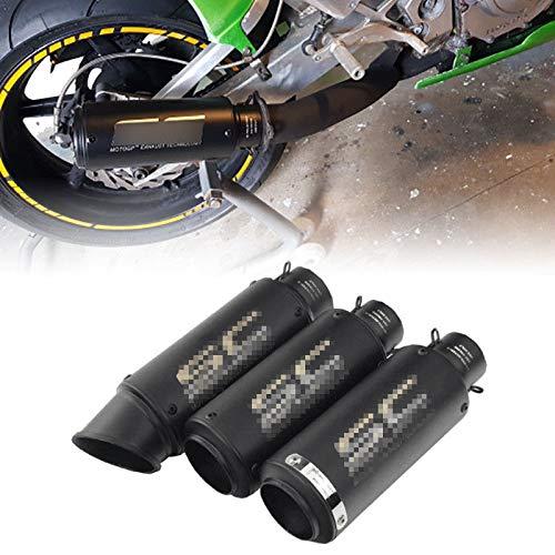 FidgetGear Universal-Motorrad-Auspuff-Endschalldämpfer für Yamaha Kawasaki Honda Slip 38-51 mm