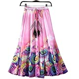 #10: Skirt (Clothfab Skirts for Women's Crepe Fabric Digital Printed Deisnger Party Wear Stitched Skirt ( Multi-Colour )