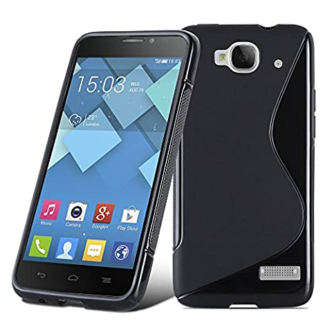 Cadorabo - Design 'S' Housse Gel (silicone) pour Alcatel ONE