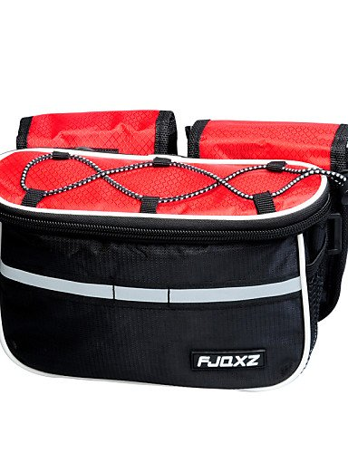 ZXC/FJQXZ? Fahrrad Rahmen Tasche Fahrrad/Bike für alle Handys (Wasserdicht/regengeschützt/Multifunktional, rot/blau, Nylon) Blau