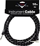 Fender Performance Series Custom Shop jack/jack coud� 3m (10 ft) black tweed - Cable audio Accessories 099-0820-036 Performance Series 10 Feet Right A