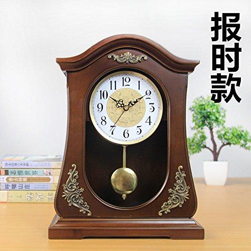 Y-Hui Massivholz Base Clock Wohnzimmer Uhren Große Uhr Mute Schreibtisch Uhrzeit Quarz Pendel Teil, 10-Zoll ,223 Bericht.) (Standuhr Teile Pendel)