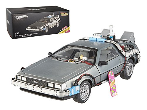 (Hotwheels - Elite (Mattel) BCJ97–Miniatur-Fahrzeug–Modell–De Lorean Zurück in die Zukunft II–Maßstab 1/18)