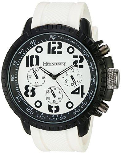 hennessy-de-temps-hommes-mr4014-analogique-affichage-analogique-a-quartz-blanc-montre