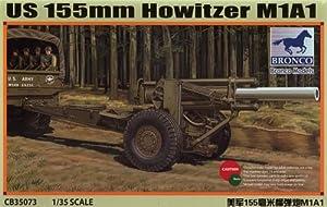Unbekannt Bronco Models cb35073-Maqueta de US m1a1155mm Howitzer, WWII