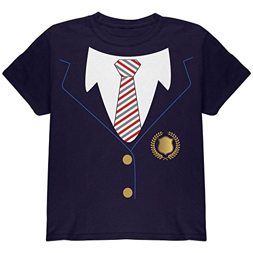 School Shirt Kostüm Girl (Halloween-American School Girl Kostüm Jugend T Shirt Marine)