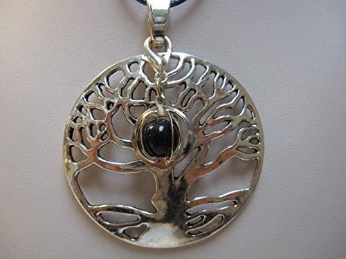 natural mente–Colgante Árbol de la Vida, incluye 1Chakra piedra, colgante para cadena, amuleto, Árbol de la Vida, incluye cinta de tela, piedras preciosas, nº 181