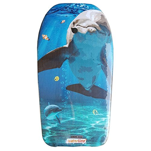 Lively Moments Bodyboard mit Delfin in Comicoptik 84 cm / Body Board / Surfboard / Schwimmbrett