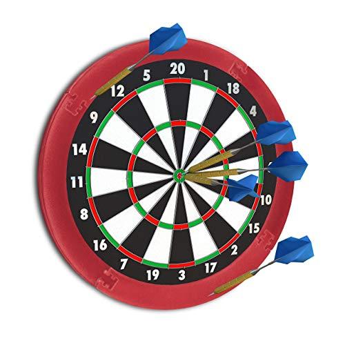 """Relaxdays Dart Auffangring """"R5"""", Catchring Dartscheibe, 4-teilig, Surround f. Dartboards, EVA, 45 cm, bordeaux"""