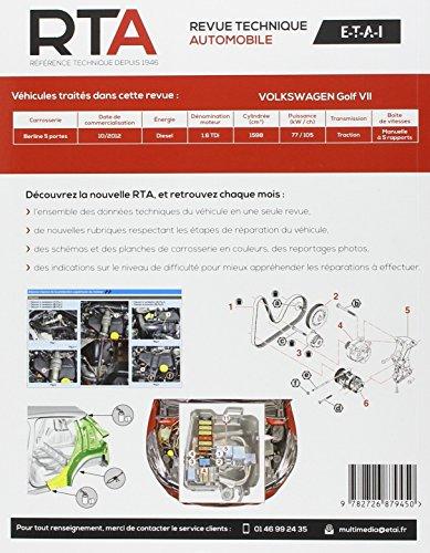 Revue Technique B794 Volkswagen Golf VII 1.6 TDi 105 ch 10/2012