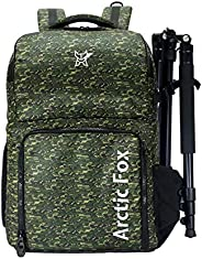 Arctic Fox Camera Bag for Polariod/DSLR Camera with Lens, 15.5 Inch Laptop and Tripod Holder (Olive)