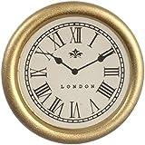 Casa De Muñecas Redondo Oro Enmarcado Reloj De Pared Miniatura 1:12 Accesorio Número Romano