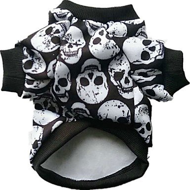 Gruppe Kostüme Halloween Für (Hund Kostüme Hundekleidung Cosplay Halloween Totenkopf Motiv Schwarz ,)