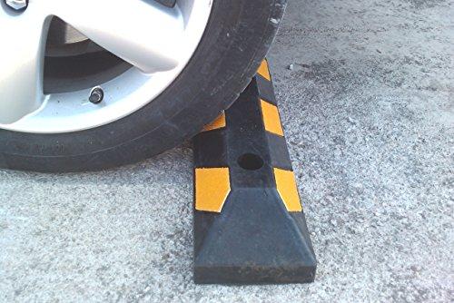 Einzel Gummi Parkplatzbegrenzung für Parkplätze und Garagen 55x15x10cm - 5
