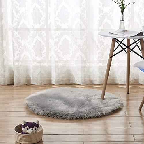 Berrose-Wolle Nachahmung Schaffell Teppiche Faux Fur Rutschfeste Schlafzimmer Shaggy Teppich Matten...