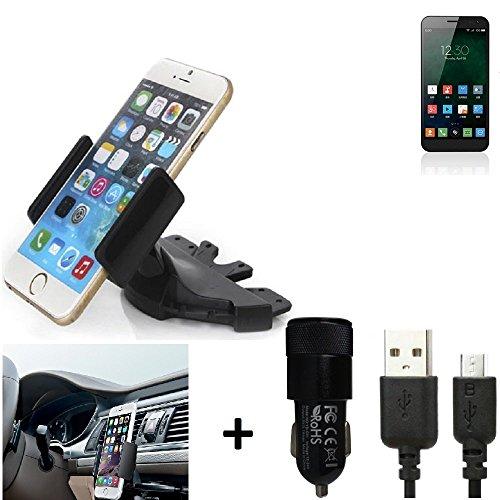 K-S-Trade® TOP SET para Zopo ZP999 Soporte Ranura de CD Smartphone coche para los dispositivos de navegación /...