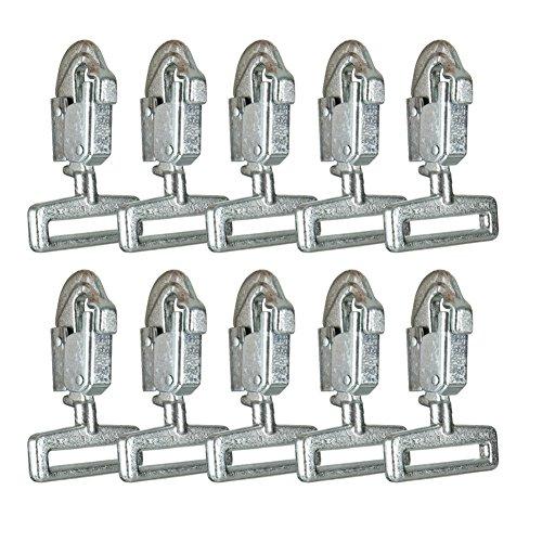 Fusion Arrampicati Cobra acciaio al carbonio forgiato Double Lock Snap Hook 10-Pack