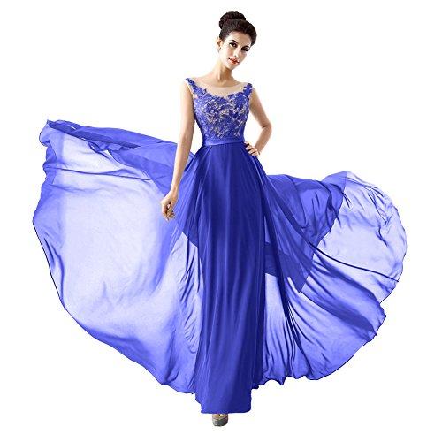 Ikerenwedding - Robe - Taille empire - Femme Small Bleu