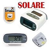 CONTA PASSI DIGITALE solare contapassi pedometro calorie distanza podometro
