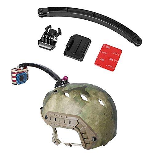 Gebogene Ebene (Tping GoPro Helmet Ergänzungs-Kit, Helm Auslegearm + Gebogen Surface-Mount + 3M VHB Aufkleber + Schnellverschluss-Schnalle für GoPro Hero 1, Hero 2, Hero 3, Hero 3 +, Hero 4 Kamera)