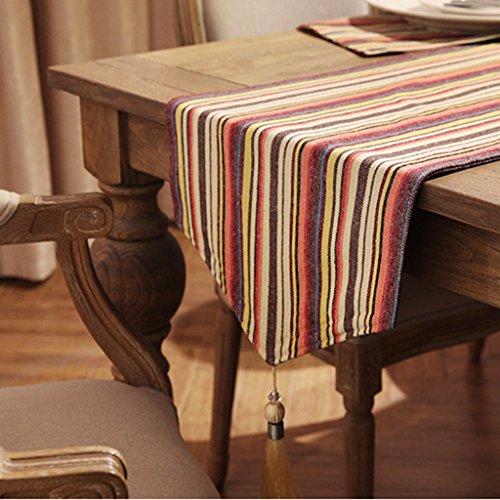 Haiying runner romantico san valentino da tavola runner in lino poliestere a sette colori bar tovaglietta per ufficio cucina pranzo da pranzo ( colore : b , dimensioni : 35*160cm )