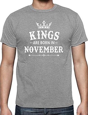 Geschenk T-Shirt für den Mann - Kings are born in