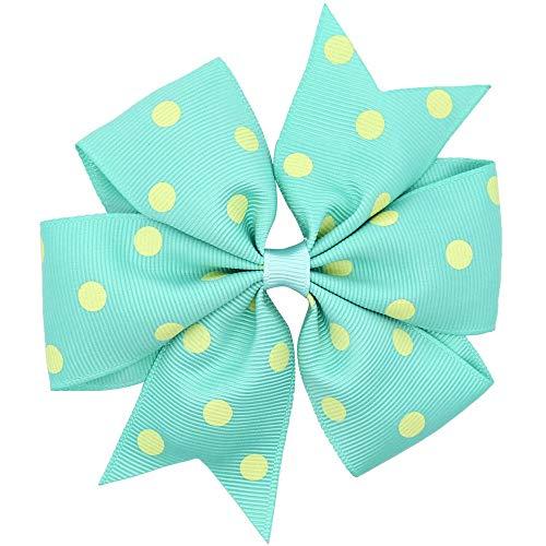 HUAIX Home Polka Dots Hair Ribbon Bows Mädchen/Kinder Hairbows Boutique Haarschleife mit Krokodilklemmen Haarnadeln (Color : Light Coral) -