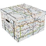 Robert Frederick Collapsible Storage Box-London Underground, Assorted, 40 x 30 x 6 cm