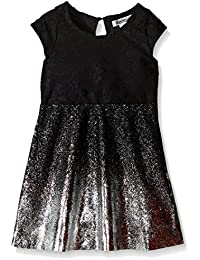 Kensie Girls' Lace Dress with Foil Printing