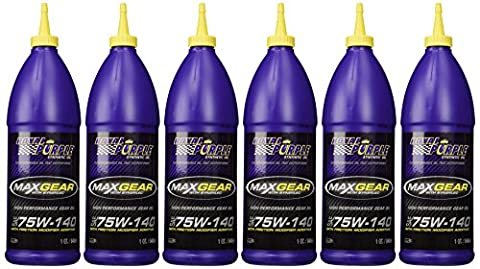 Royal Purple 01301 Max-Gear Synthetic Gear Lube Oil 75W 6 Quarts by Royal Purple - Royal Purple Max Gear