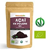 Poudre de Baies d'Açai Bio [Freeze-Dried] 100g. Pure Organic Acai Berry Powder. 100% Produit au Brésil, Lyophilisé, Cru, extrait de la pulpe de baie d'acaï. Superfood riche en antioxydants, vitamines.