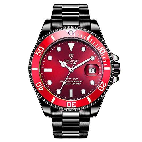 801 m?nner automatische mechanische Uhr Mode leuchtende Armbanduhr 30 mt t?glich wasserdichte stahlband m?nnlichen Sport Uhr (Armee grün) ()