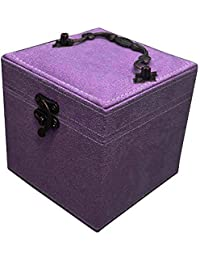 Wohnaccessoires & Deko Kloud City® Hot Pink dreilagiger Fusseln Jewelry Box Organizer Display Aufbewahrungsbox Fall mit Spiegel