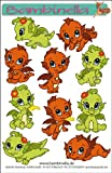 Bambinellas Stickerparade - 10 Sticker - Motiv: Drache - Made in eigener Werkstatt in Germany