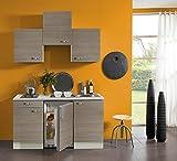 idealShopping Singelküche mit Elektrogeräten Vigo in Pinie Nachbildung 150 cm breit