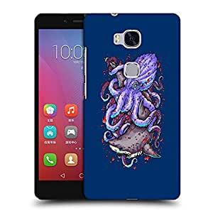 Snoogg Octopus And Shark Designer Protective Back Case Cover For HUAWEI HONOR 5X