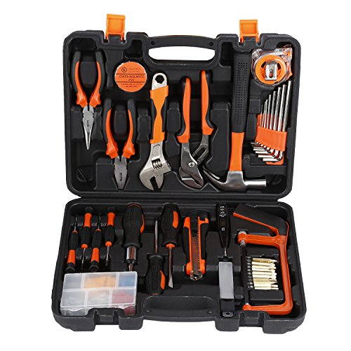 Toolkit, LESHP Precision Tools 100 Pieces DIY Home Household Toolkit Tool Kit Set with Combination Pliers in Box Case