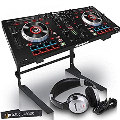 Numark Mixtrack Platinum DJ Controller with Serato | Includes Laptop Stand and HF125 Headphones