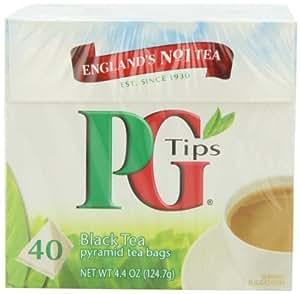 PG Tips Schwarzen Tee Teebeutel, Pyramidenförmig, 40 Kartons, Samen (6 Stück), Garten, Rasen, Instandhaltung