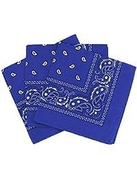ac872d494625 PURECITY© Bandana Original Paisley Motif Cachemire Foulard Pur Coton  Qualité Supérieure Vendu par Lot -