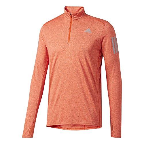 adidas RS LS ZIP Tee M T-shirt für Herren, Mehrfarbig (Energi), L (Adidas Langarm T-shirt Orange)