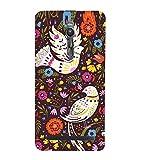 Fuson Designer Back Case Cover for Asus Zenfone 2 ZE551ML (Pigeon White Pigeon Flowers Leaves pink Flowers)