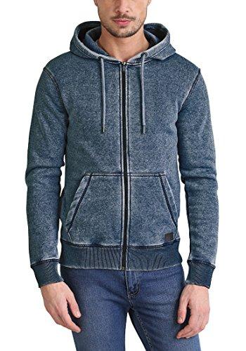 BLEND Burnie Herren Sweatjacke Kapuzen-Jacke Zip-Hoodie aus hochwertiger Baumwollmischung Navy (70230)