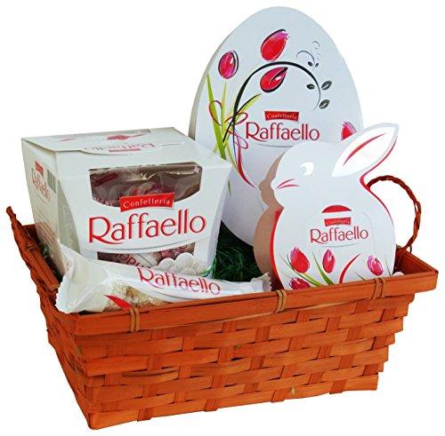 Geschenk Set Osternest mit Ferrero Raffaello (4-teilig) Fertige Osternest