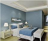 Yosot Vliestapeten Moderne Einfache Und Solide 3D-Schlafzimmer Wohnzimmer Arbeitszimmer Hintergrund Tapete Blau