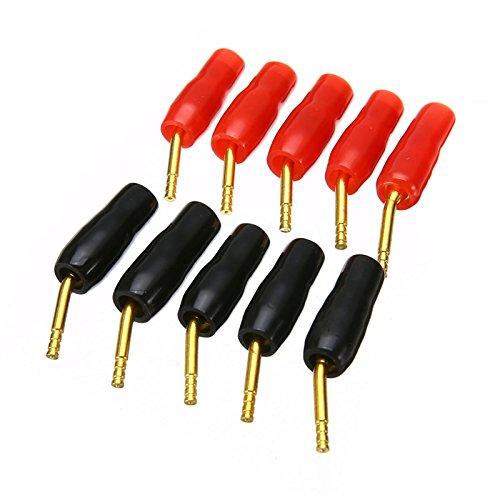 5 Paar 2 mm Bananen-Kabel Pin Stecker vergoldet Pin Stecker Lautsprecher Stecker für Kabel Hifi Lautsprecher - 2.0 Banane