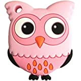 Leoie Baby Cute Cartoon Animal Teether Toys Vivid Color Educational Toy Gifts For Baby Owl Pink