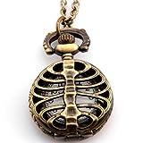 Patrón de trinchar JewelryWe ciempiés estilo antiguo delicado diseño de collar de regalo de cuarzo reloj de bolsillo collar con colgante de 78,74 cm (incluye bolsa de regalo) - JewelryWe - amazon.es