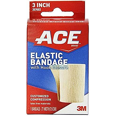 Ace Elastic Bandage With Hook Closure 3 Inch Width, 7603, 1 Ea